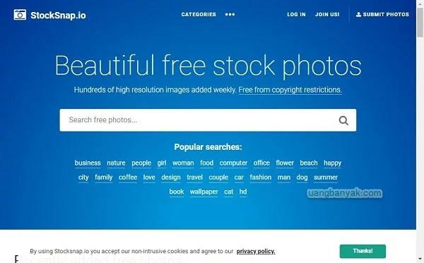 penyedia gambar gratis stock snap untuk keperluan blogging