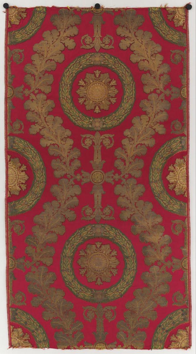 Brocart destiné à la salle du trône de Versailles, utilisé au Palais des  Tuileries - Grand frères, Lyon — Google Arts & Culture