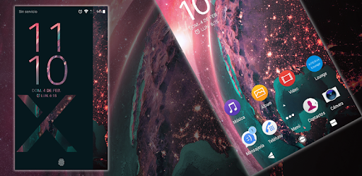 Bright Planet, a simple and great theme for your smartphone or tablet xperia