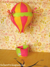 Photo: Αερόστατο Ο Μικρός Λεβάντες σε για κορίτσι! Διαστάσεις είναι: ύψος, (από το μπαλόνι μέχρι το καλάθι) 19 εκατοστά περίπου και μήκος (μπαλονιού) 9 εκατοστά.