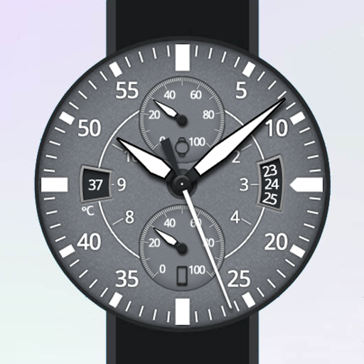Gray Space Watch Face