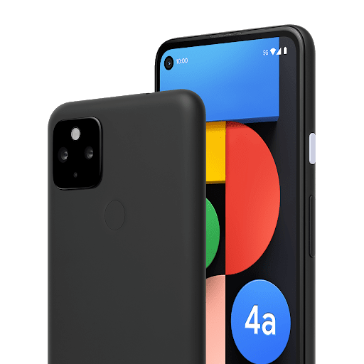 Front and back of Google Pixel 4a (5G)