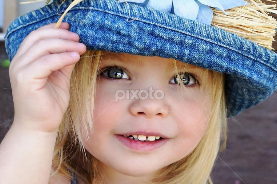 Tip My Blue Hat by Cheryl Korotky - Babies & Children Child Portraits (  )