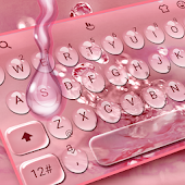Rose Gold Water Droplets Stylish Reading Android APK Download Free By Love Cute Keyboard