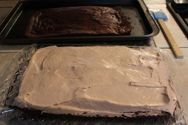 Remove chocolate filling from fridge and stir a few times to make it easier...
