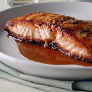 Salmon with Sweet-and-Sour Pan Sauce.