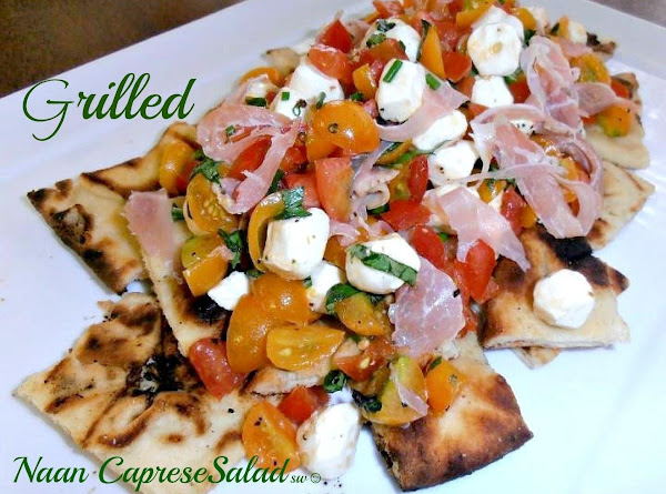 Grilled Naan Caprese Salad Recipe
