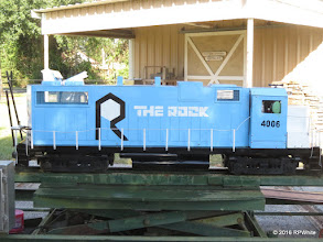 Photo: Richard Osborn got his new loco this far when the power to the whole park went out for 2.5 hours.   HALS 25th Anniversary Meet 2016-1112 RPWhite