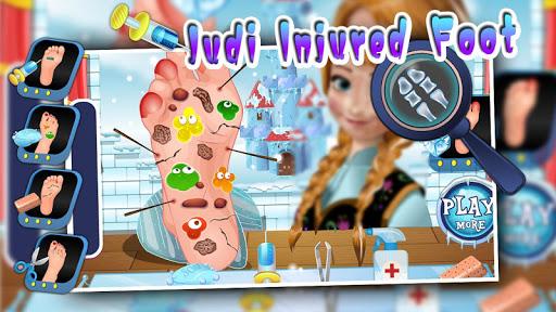 Judi injured foot