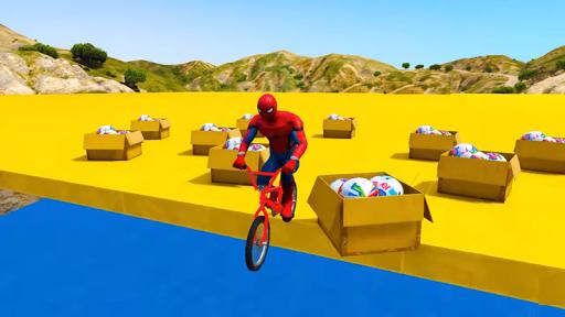 Superhero BMX Stunts Racing: Buggy Hill Heroes  screenshots 3
