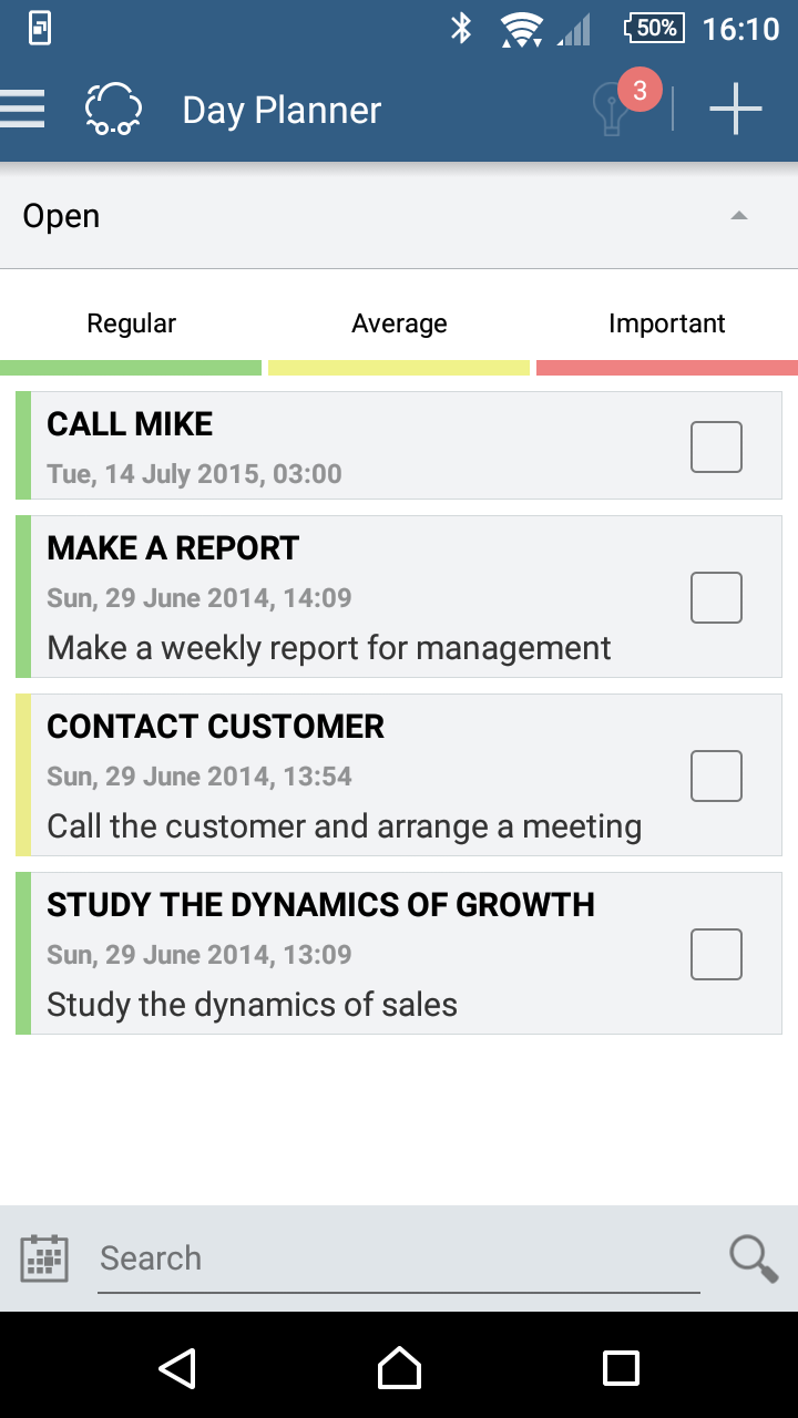 Smarty CRM: organizer, chat screenshot #5