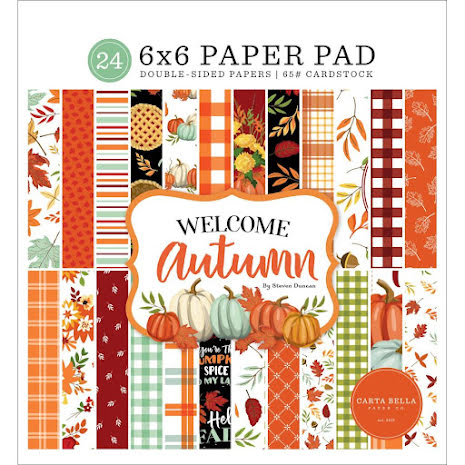 Carta Bella Double-Sided Paper Pad 6X6 - Welcome Autumn