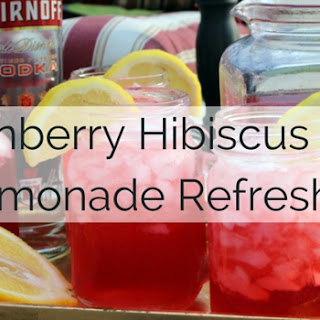 Cranberry Hibiscus Tea Lemonade Refresher.