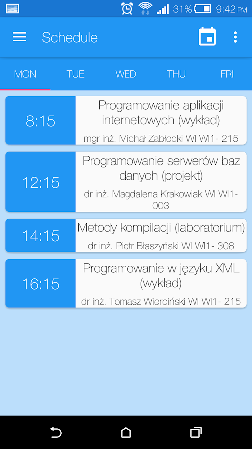 WI ZUT APP- screenshot