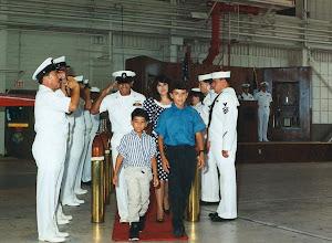 Photo: Armando Musquez, AECS  Retirement Ceremony July 1992  Last station Senior Chief