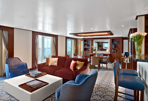 A look at the spacious, well designed Wintergarden Suite on Seabourn Encore.