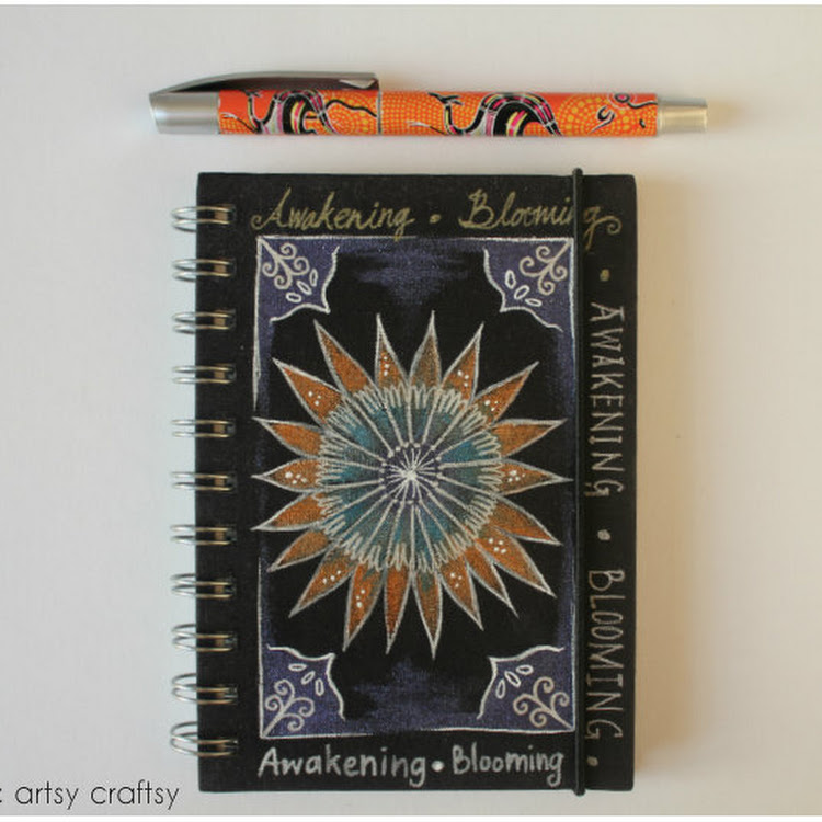 Awakening & Blooming - A5 Notebook by The Artsy Craftsy