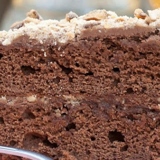 Pretzel Toffee Crusted Chocolate Cake.
