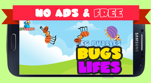 Peg Puzzle For Kids Free Bugs