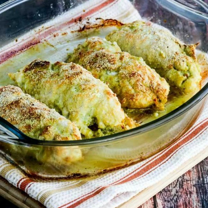 Low-Carb Baked Chicken Stuffed with Pesto and Cheese (Video) Recipe