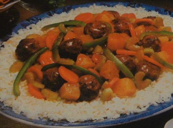 Oriental Sweet  And Sour   W/ground Beef Balls Recipe