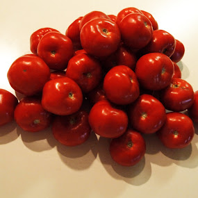 My Tomatoes  by Jackie Sleter - Food & Drink Fruits & Vegetables ( farm, fruit, red, fresh, tomatoes )