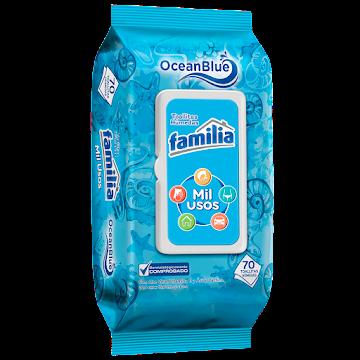 Toallas Húmedas Familia   Active Mil Usos Ocean Blue X70Und.