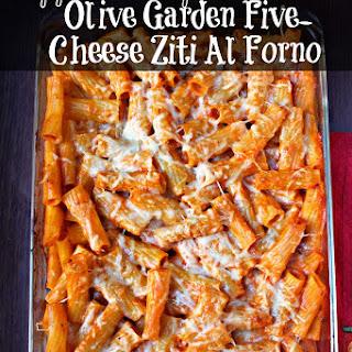 Copy Cat Recipe - Olive Garden Five-Cheese Ziti Al Forno.