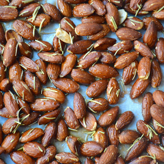 Maple Rosemary Roasted Almonds.