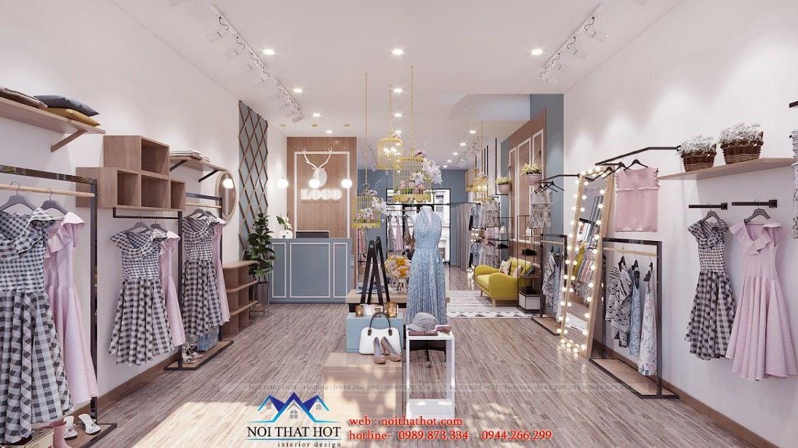 thiết kế shop thời trang nữ dova đẹp