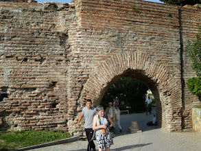 Photo: Dürres, the Greek Epidamnos and later Roman Dyrrachium. Here the Via Egnatia connected across the Adriatic with Italy. Built by Emperor Anastasius 491-518 AD