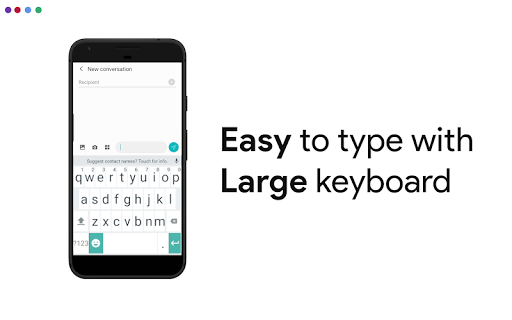 Big Keyboard & Notifications - Senior Home Screen 3.1.62 screenshots 5