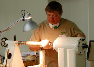 Photo: He then starts shaping the handle.