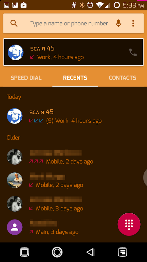 PCB Orange ⁞ CM13 Theme- screenshot