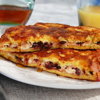 Cranberry Goat Cheese Stuffed French Toast.