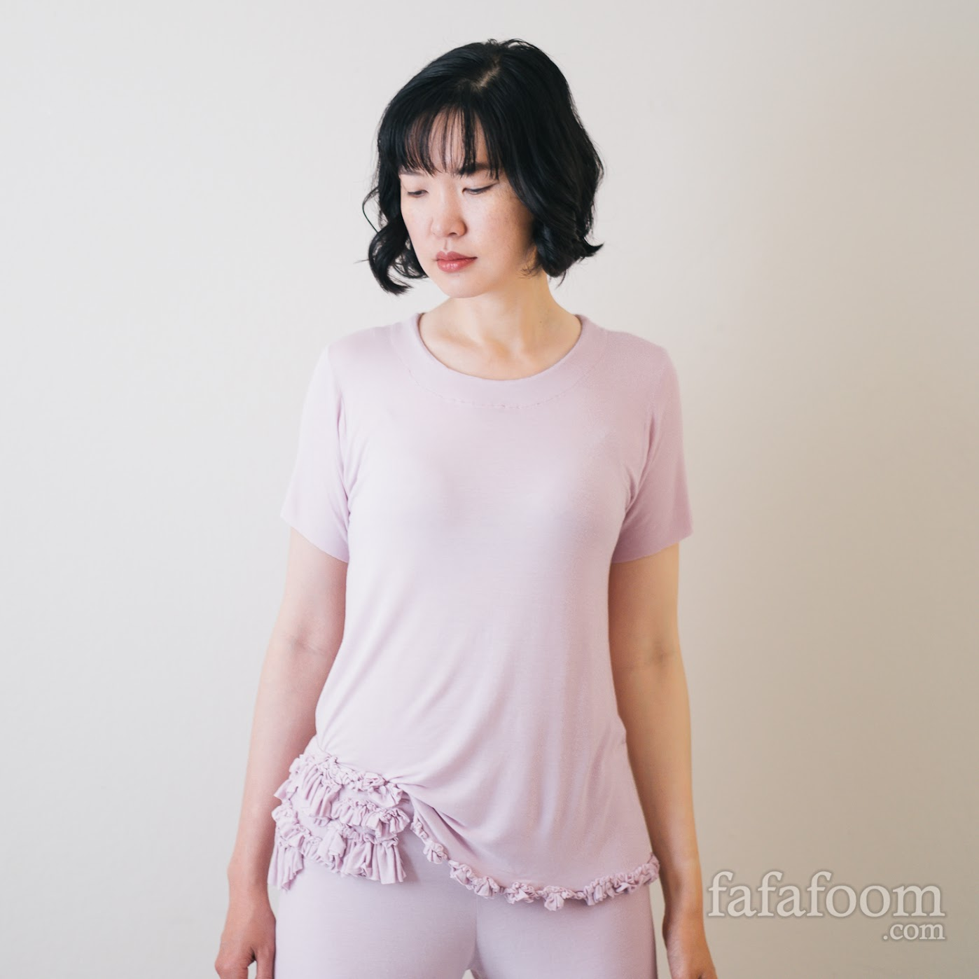 Result: DIY Pink Ruffled Sleepwear Set - DIY Fashion Garments | fafafoom.com