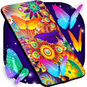 Neon Butterflies Wallpaper 🦋 Free Live Wallpapers icon