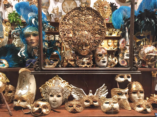 Venice-shop-window.jpg - Masks and adornments in a Venice shop window.