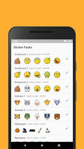 Emoticons Sticker Pack for WhatsApp 0.2.10 screenshots 1