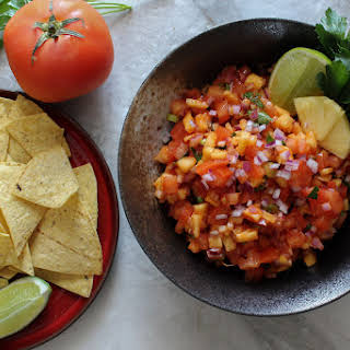 Sweet & Spicy Pineapple Salsa.