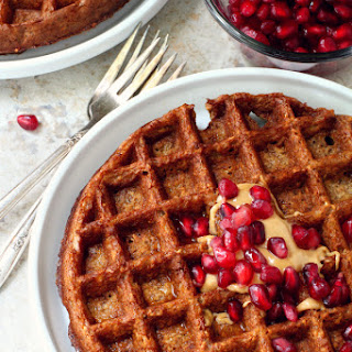 Flourless Gingerbread Waffles or Pancakes