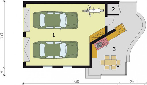 G188 - Rzut garażu