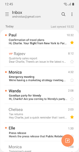Screenshot for Samsung Email in United States Play Store