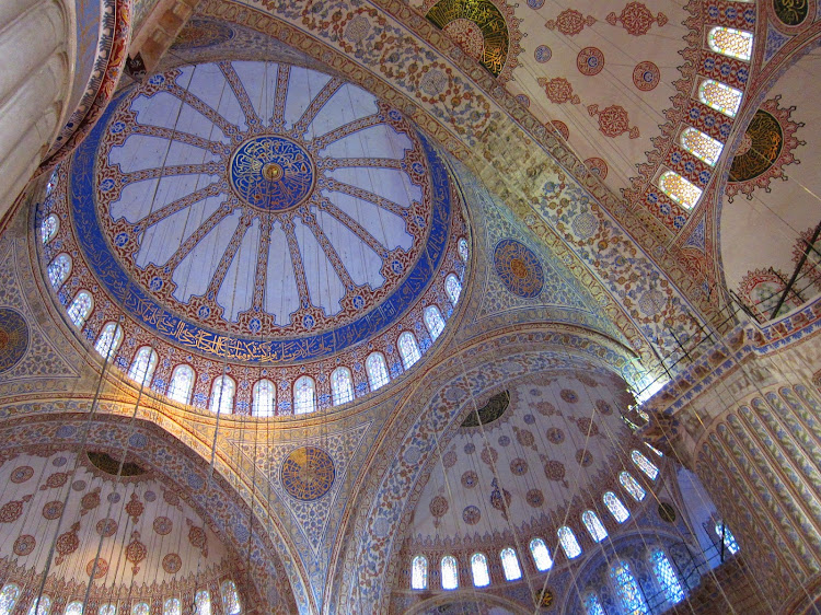 The stunning cupola of the Blue Mosque in Istanbul.