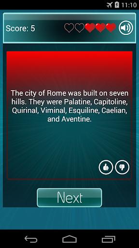 True False Quiz Screenshot