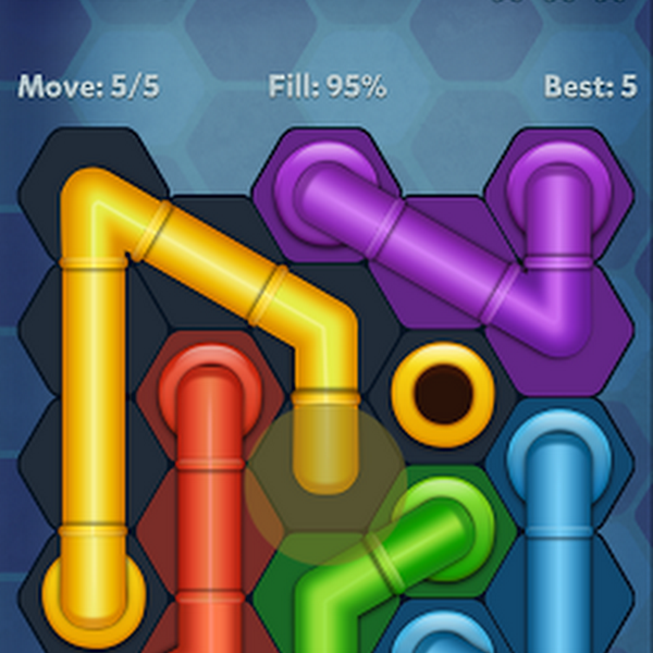 Pipe Lines : Hexa v2.4.4 (Mod Hints/Unlocked)