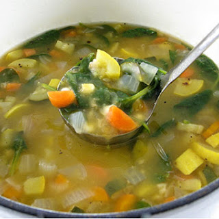 Nutritious, Vegetable Barley Soup.