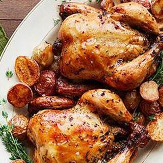 Garlic-Herb Cornish Hens