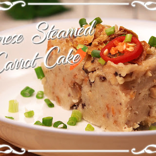 Chinese Steamed Carrot Cake.