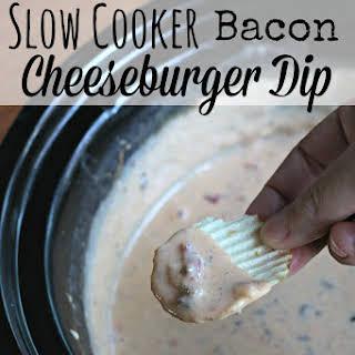 Slow Cooker Bacon Cheeseburger Dip.